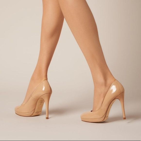 d14465010cb NWT LK Bennett Sledge Fawn Patent Leather Heels
